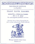 Franz Xaver Hammer - Sonata No. 5 in D major - Sheet Music - di-arezzo.com