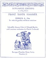 Franz Xaver Hammer - Sonata In the Major - Sheet Music - di-arezzo.com
