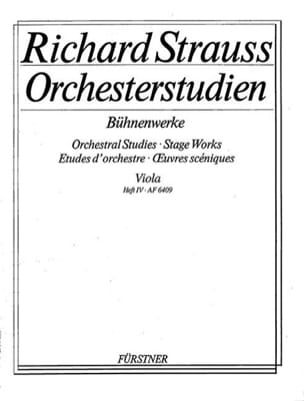 Richard Strauss - Orchesterstudien - Viola - Heft 4 - Sheet Music - di-arezzo.co.uk