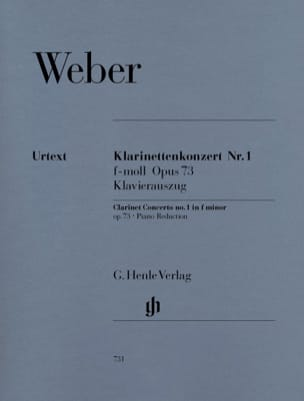 Carl Maria von Weber - Clarinet Concerto No. 1 in F minor op. 73 - Partition - di-arezzo.com