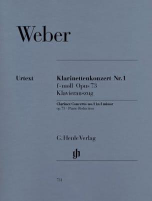 Carl Maria von Weber - Concierto para clarinete n.º 1 en fa menor op. 73 - Partitura - di-arezzo.es