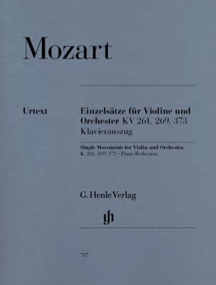 MOZART - Separate movements for violin and orchestra KV 261, 269 and 373 - Sheet Music - di-arezzo.co.uk