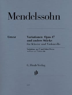 MENDELSSOHN - Variations op. 17 and other pieces for piano and cello - Sheet Music - di-arezzo.co.uk