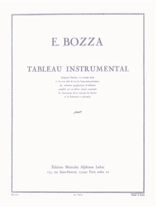 Eugène Bozza - Instrumental table - Sheet Music - di-arezzo.co.uk