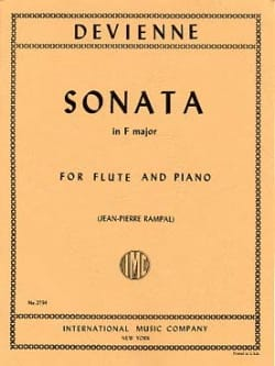 François Devienne - Sonata in F major – Flute piano - Partition - di-arezzo.fr