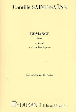 Camille Saint-Saëns - Romance Op. 51 en Ré – - Partition - di-arezzo.fr