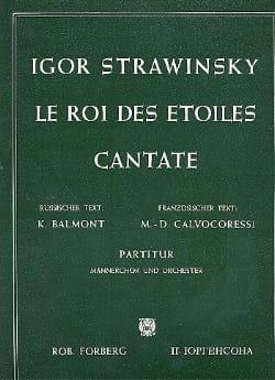 Igor Stravinsky - Le Roi des étoiles - Partitur - Partition - di-arezzo.fr