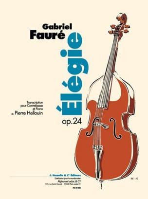 Gabriel Fauré - Elegie Op. 24 - Double Bass - Sheet Music - di-arezzo.co.uk