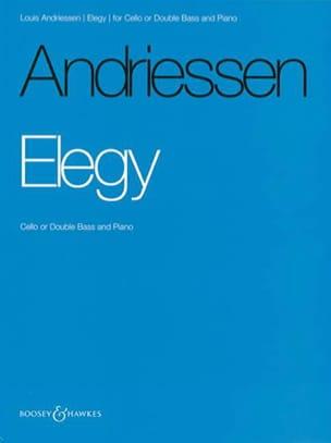 Louis Andriessen - Elegy - Partition - di-arezzo.fr