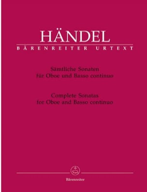 HAENDEL - Oboe Sonatas - Sheet Music - di-arezzo.co.uk