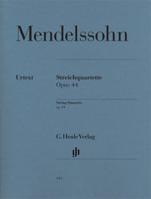 MENDELSSOHN - String quartets op. 44 - Sheet Music - di-arezzo.co.uk