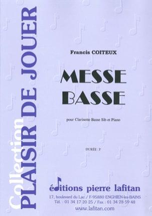 Messe Basse - Francis Coiteux - Partition - laflutedepan.com