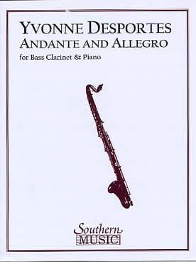 Yvonne Desportes - Andante and Allegro - Sheet Music - di-arezzo.co.uk