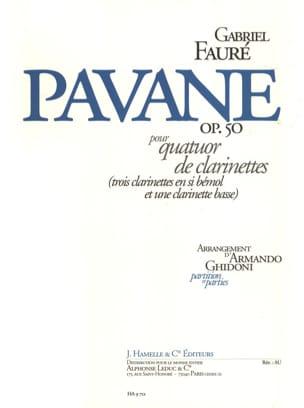 Gabriel Fauré - Pavane op. 50 - quatuor clarinettes - Partition - di-arezzo.fr