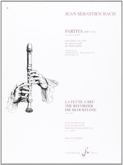 Bach Johann Sebastian / Sanvoisin Michel - Partita BWV 1013 – flûte à bec alto - Partition - di-arezzo.fr