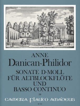 Anne Danican-Philidor - Sonate d-mol – Altblockflöte u. Bc - Partition - di-arezzo.fr