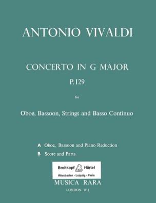 VIVALDI - G-Dur Concerto Rv 545 - Oboe, Fagott, Streicher and Bc - Sheet Music - di-arezzo.com