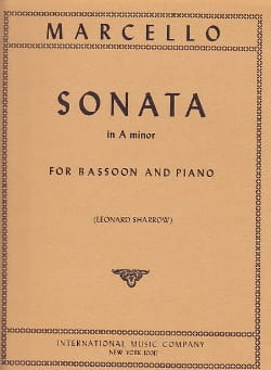 Benedetto Marcello - Sonata in A minor – Bassoon piano - Partition - di-arezzo.fr