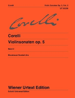 CORELLI - Sonatas op. 5, Volume 2 7 to 12 Moosbauer - Partition - di-arezzo.co.uk