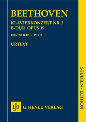Ludwig van Beethoven - Klavierkonzert Nr. 2 –Partitur - Partition - di-arezzo.fr