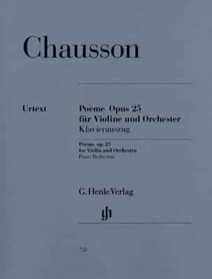 Ernest Chausson - Poem for Violin and Orchestra Op. 25 - Sheet Music - di-arezzo.co.uk