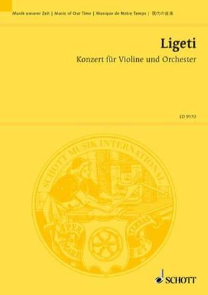 György Ligeti - Konzert für Violine und Orchester -Partitur - Partition - di-arezzo.fr
