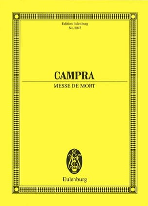 Messe de Mort Requiem CAMPRA Partition Grand format - laflutedepan