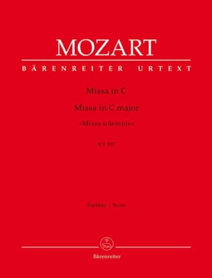 Missa Solemnis C-Dur, KV 337- Partitur - MOZART - laflutedepan.com