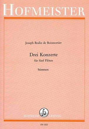 Konzerte Op 15 1-3 Für 5 Flöten - BOISMORTIER - laflutedepan.com