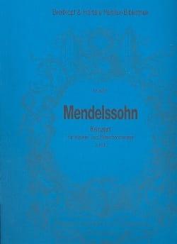 Bartholdy Felix Mendelssohn - Konzert für Klavier a-moll – Partitur - Partition - di-arezzo.fr