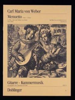Carl Maria von Weber - Menuett Mit Trio A-Hard - Noten - di-arezzo.de