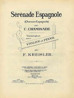 Chaminade Cécile / Kreisler Fritz - Spanish serenade - Sheet Music - di-arezzo.co.uk