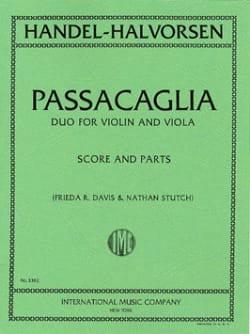 HAENDEL - Passacaglia - violino violino - Partitura - di-arezzo.it