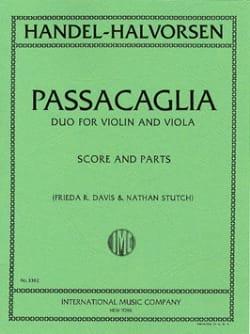 Passacaglia - Violin viola HAENDEL Partition 0 - laflutedepan