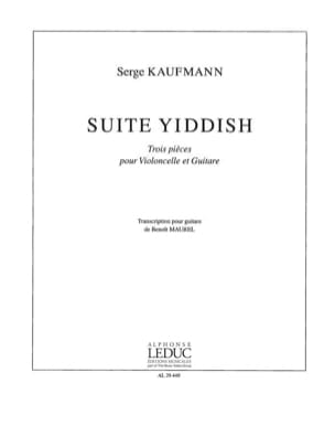 Serge Kaufmann - Suite Yiddish - Partition - di-arezzo.fr