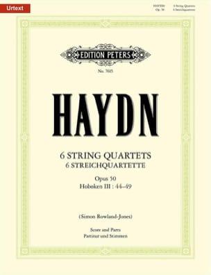 Joseph Haydn - 6 Streichquartette op. 50 -Partitur + Stimmen - Partition - di-arezzo.fr