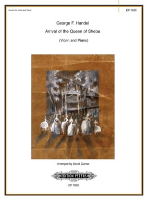 Arrival of the Queen of Sheba - Violin HAENDEL Partition laflutedepan