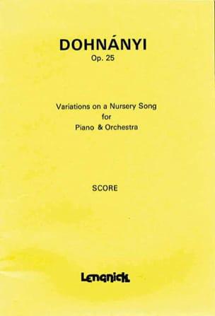 Variations on a nursery song, op. 25 - laflutedepan.com