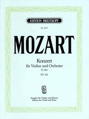 Concerto en sol majeur, KV 216 - MOZART - Partition - laflutedepan.com