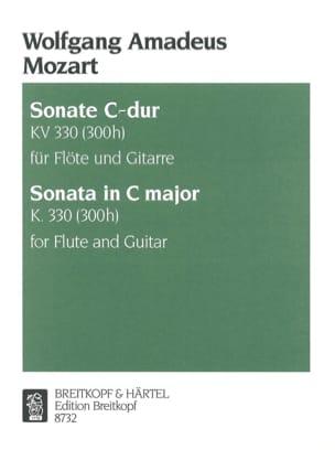 Sonate C-Dur KV 330 - Flöten Gitarre MOZART Partition laflutedepan