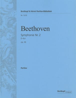 Ludwig van Beethoven - Symphonie Nr. 2 D-Dur op.36 - Partition - di-arezzo.fr