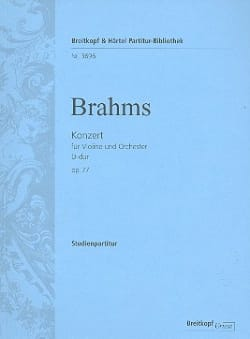 BRAHMS - Violin Concerto in D Maj. Op. 77 - Sheet Music - di-arezzo.co.uk