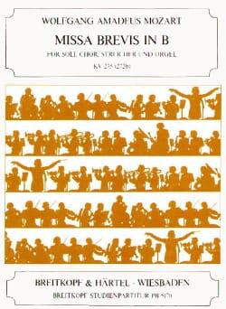 Wolfgang Amadeus Mozart - Missa Brevis B-Dur KV 275 – Partitur - Partition - di-arezzo.fr
