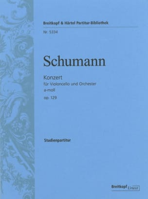 SCHUMANN - Concerto in the Minor, Op. 129 - Sheet Music - di-arezzo.com