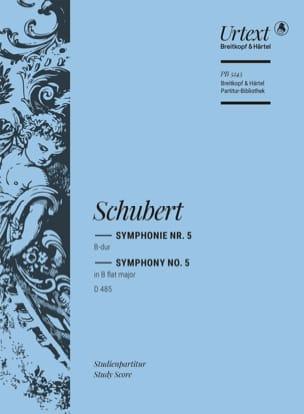 SCHUBERT - Symphonie N° 5 En Sib Maj. - D. 485 - Partition - di-arezzo.fr