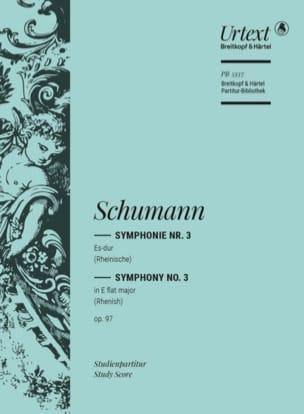 Symphonie N°3 Mib Maj. Op.97 - SCHUMANN - Partition - laflutedepan.com