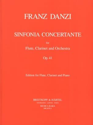 Franz Danzi - Sinfonia concertante op. 41 –Flute clarinet piano - Partition - di-arezzo.fr