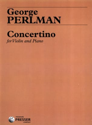 Concertino George Perlman Partition Violon - laflutedepan