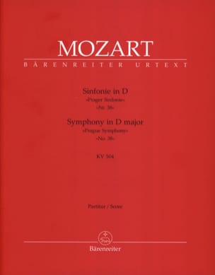 MOZART - Symphony No. 38 D-Dur Prague KV 504 - Partitur - Sheet Music - di-arezzo.co.uk