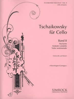 TCHAIKOVSKY - Tchaikovsky For Cello, Volume 2 - Partition - di-arezzo.fr